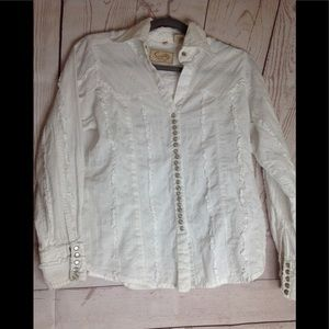Scully button down size small